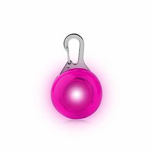 LED подвеска/фонарик Friend HY-0501 Pink на ошейник для собак светящаяся мигающая