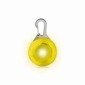 LED подвеска/фонарик Friend HY-0501 Yellow на ошейник для собак светящаяся мигающая