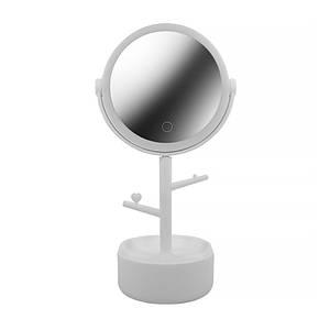 Косметичне дзеркало з підсвічуванням ECOCO E1908 White для нанесення макіяжу