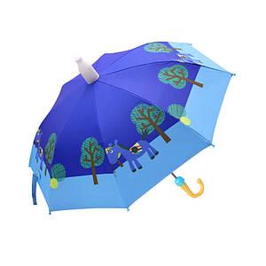 Дитячий парасольку Lesko QY2011301 Blue Horse (коник) тростина для дітей автоматичний з пластиковим чохлом