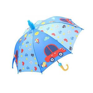 Дитячий парасольку Lesko QY2011301 Car (машина) тростина для дітей автоматичний з пластиковим чохлом