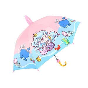 Дитячий парасольку Lesko QY2011301 Mermaid тростина автоматичний з пластиковим чохлом