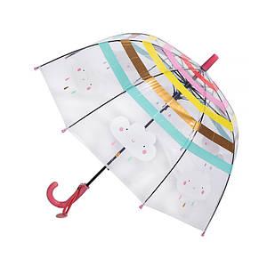 Прозорий дитячий парасольку RST RST044A Хмари Red механіка тростина