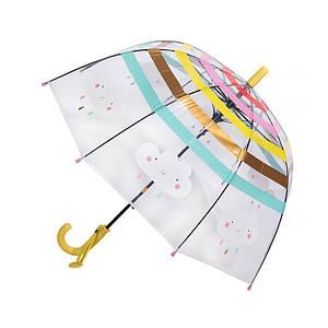 Дитячий парасольку RST RST044A Хмари Yellow з прозорим куполом механічний