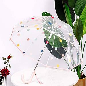 Дитячий парасольку RST RST066 Pink механіка прозорий для дівчаток