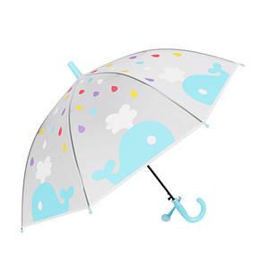 Дитячий парасольку RST RST088 Кіт Blue механічний тростина унісекс від дощу