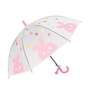 Дитячий парасольку-тростину RST RST088 Кролик Pink механіка вітрозахисний