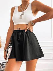 Трендові жіночі розкльошені шортики Black