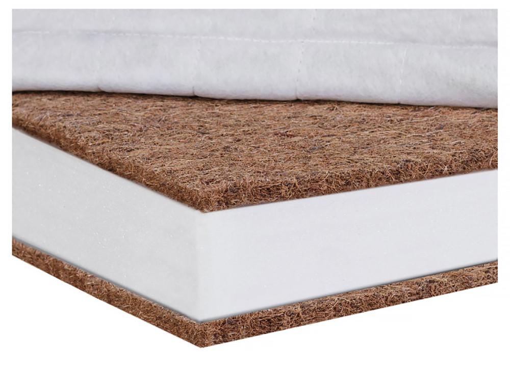 Матрац Солодких Снів Bamboo Comfort lux - 8 див. (кокос, поліуретан, кокос) білий