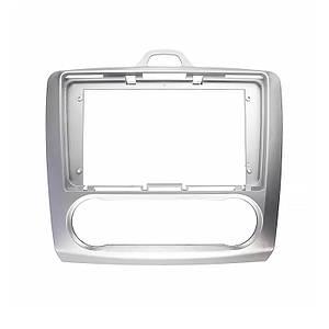 "Переходная рамка 9"" Lesko Silver для автомобилей Ford Focus 2009 FR 087N Auto AC"