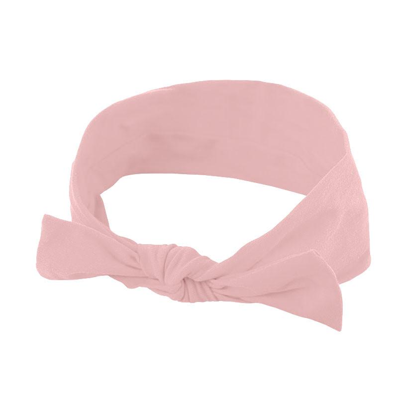 Пов'язка дитяча для волосся Lesko 007 Light Pink бант на голову дівчинці солохи