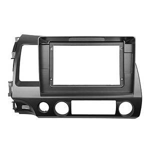 """Перехідна рамка Lesko 10.1"""" Black для автомобілів Honda Civic 2008-2011р. HO-083T"""
