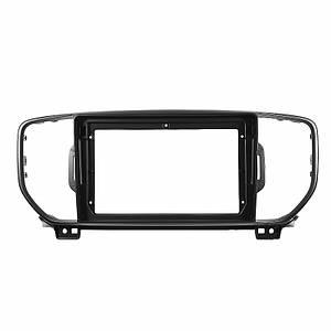 """Переходная рамка 9"""" Lesko Black для автомобиля Kia Sportage, KX5 2015 KI 074N"""