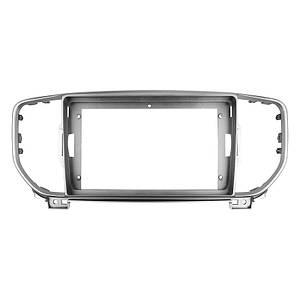 """Переходная рамка 9"""" Lesko Silver для автомобиля Kia Sportage, KX5 2015 KI 074N"""