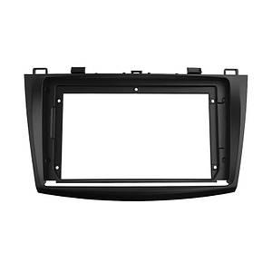 """Переходная рамка Lesko 9"""" Black для автомобиля Mazda 3 2010-2013 MA 034N"""