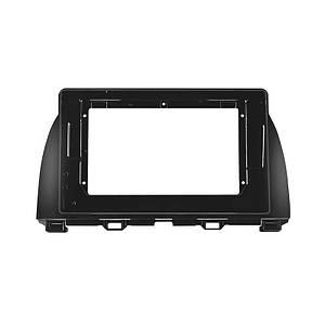 """Перехідна рамка 10.1"""" Lesko Black для автомобіля Mazda CX-5 2015-2018 F-6568"""