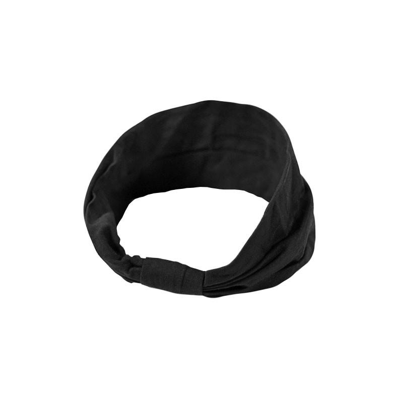 Повязка детская для волос Lesko 027 Black лента на голову девочкам солохи
