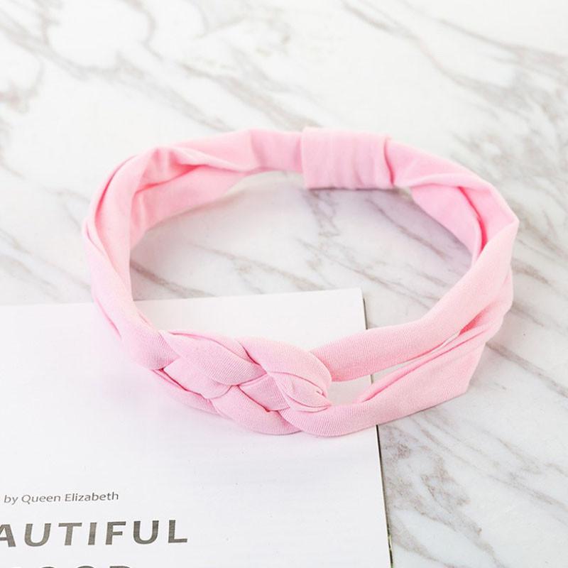 Повязка детская для волос Pure Color Lesko 002 Light Pink лента на голову солохи