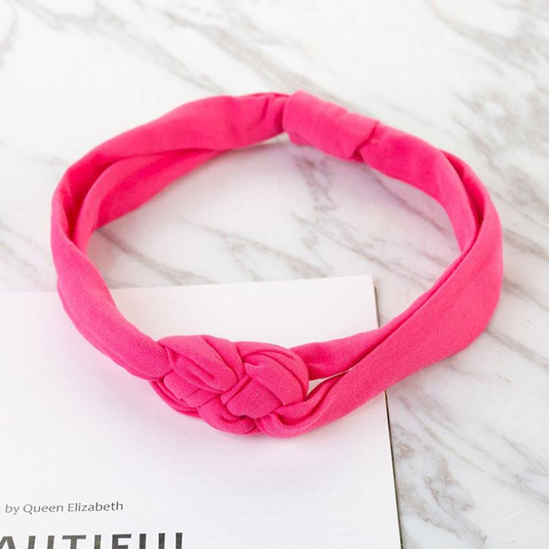 Пов'язка дитяча для волосся Pure Color Lesko 002 Pink стрічка на голову солохи