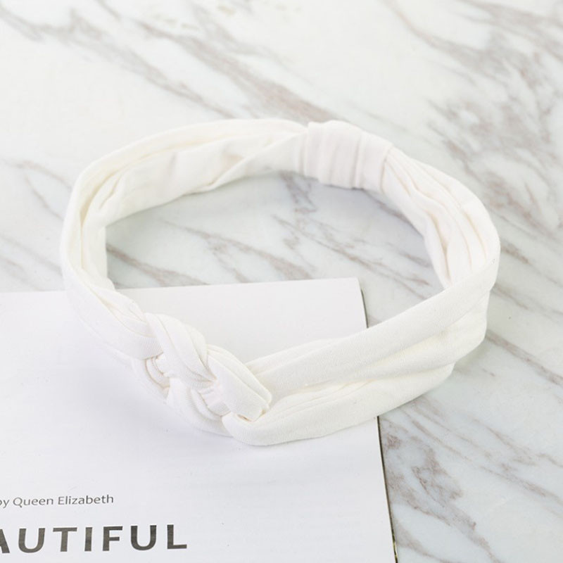 Повязка детская для волос Pure Color Lesko 002 White лента на голову солохи