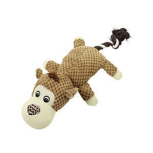 Игрушка Hoopet 17T0093G Обезьяна хвост веревка плюшевая для домашних животных