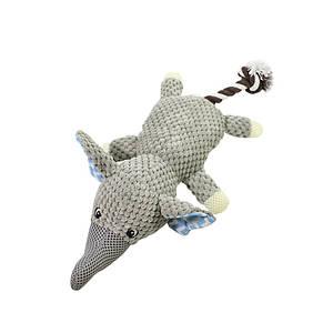 Игрушка Hoopet 17T0093G Слон хвост веревка плюшевая для домашних животных