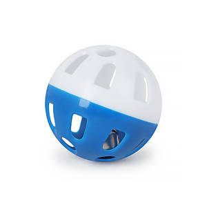 Игрушка мяч с колокольчиком для кошек Pipitao 012201 Blue D:3,8 см