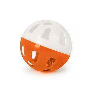 Игрушка мяч с колокольчиком для кошек Pipitao 012201 Orange D:3,8 см
