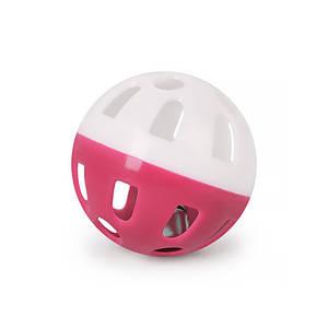 Игрушка мяч с колокольчиком для кошек Pipitao 012201 Pink D:3,8 см