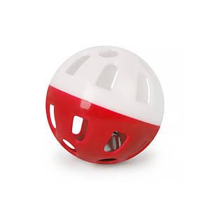Игрушка мяч с колокольчиком для кошек Pipitao 012201 Red D:3,8 см