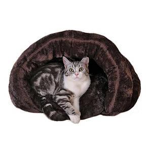 Лежак будиночок для домашніх тварин Hoopet 15W0059G Brown S спальне місце котів собак