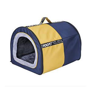 Лежак будиночок для собак Hoopet 19W0019G розмір L спальне місце 60*48*43 см