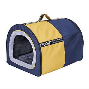 Лежак будиночок для собак Hoopet 19W0019G розмір XL, спальне місце 77*57*55 см