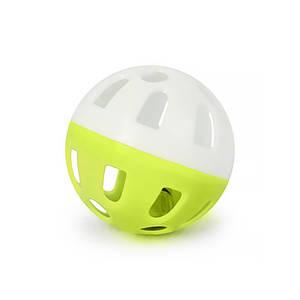Игрушка мяч с колокольчиком для кошек Pipitao 012201 Yellow D:3,8 см