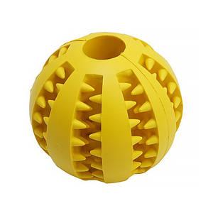 Игрушка мяч для собак Pipitao 026631 Yellow D:7,0см жевательный резиновый