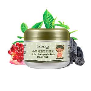 Маска для лица пузырьковая BIOAQUA Skin Care Carbonated Bubble Clay очищающая 100 г Оригинал