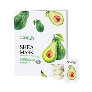 Маска ночная увлажняющая для лица BIOAQUA Shea Mask Масло Ши 8 штук по 5 г