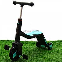 Самокат-трансформер детский Best Scooter 3в1 Голубой (JT 20255)
