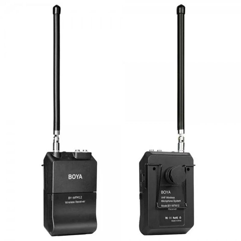 Беспроводной микрофон BOYA BY-WFM12 петличный 12-канальная радиосистема для записи аудио всенаправленный