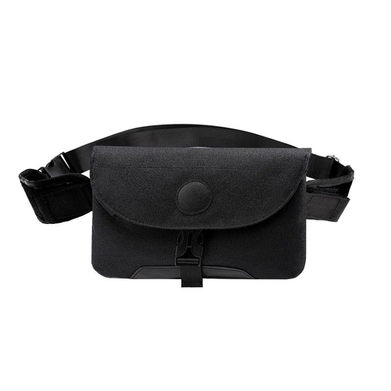 Чоловіча сумка через плече Lesko LP-022 Black повсякденна тканинна барсетка