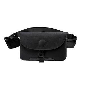 Мужская сумка через плечо Lesko LP-022 Black повседневная тканевая барсетка
