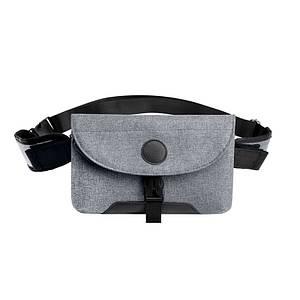 Мужская сумка через плечо Lesko LP-022 Gray повседневная тканевая барсетка