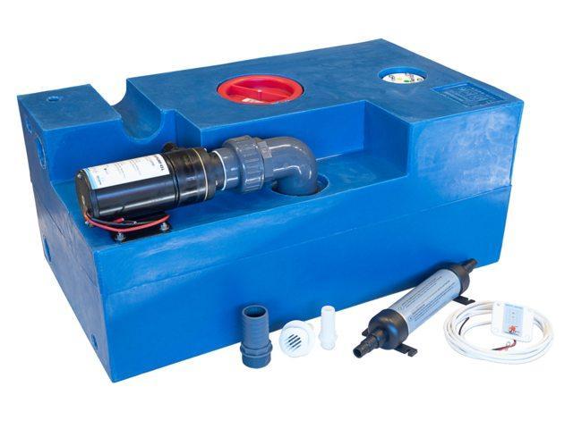 Цистерна стічних вод з мацератором Albin, 72 л 12V