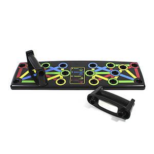 Платформа для отжиманий Push Up Rack Board MJ-039 Black доска упор от пола тренажер для пресса