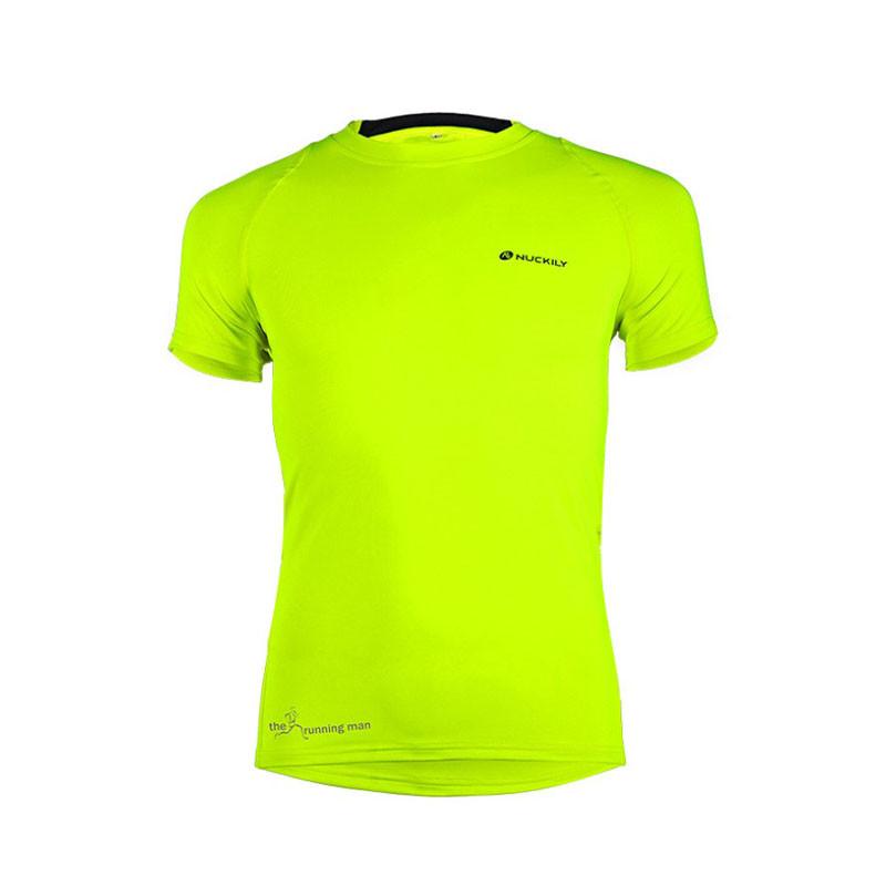 Чоловіча футболка для заняття спортом Nuckily MG011 Green L спортивна тренувальна