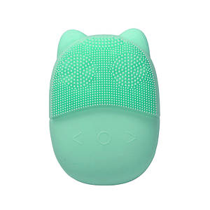 Электрическая силиконовая щетка-массажер Lesko A3 для чистки лица Green