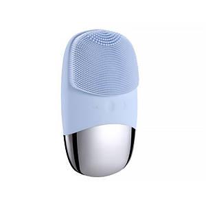 Электрическая силиконовая щетка-массажер Lesko DL-001 Sky Blue для чистки лица