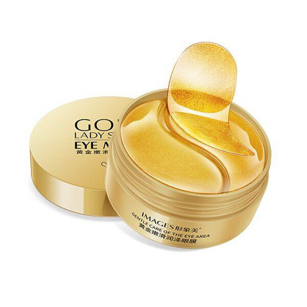 Гідрогелеві патчі IMAGES Eye Mask Gold Lady з частинками золота в банку під очі 80 г