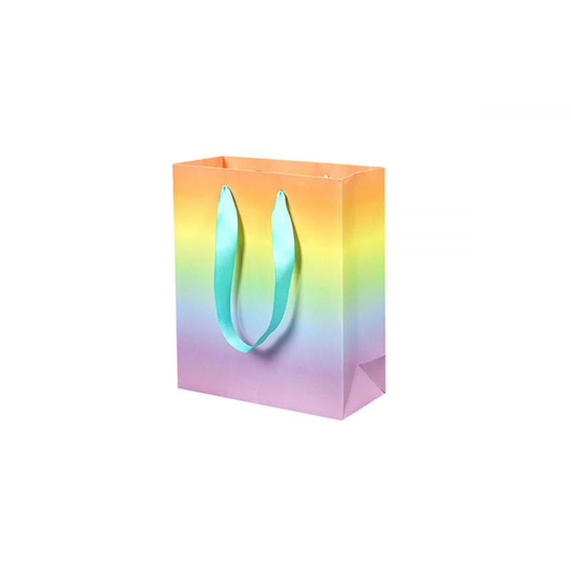 Подарунковий пакет PPW PAPER ZD028 Rainbow Medium для подарунків