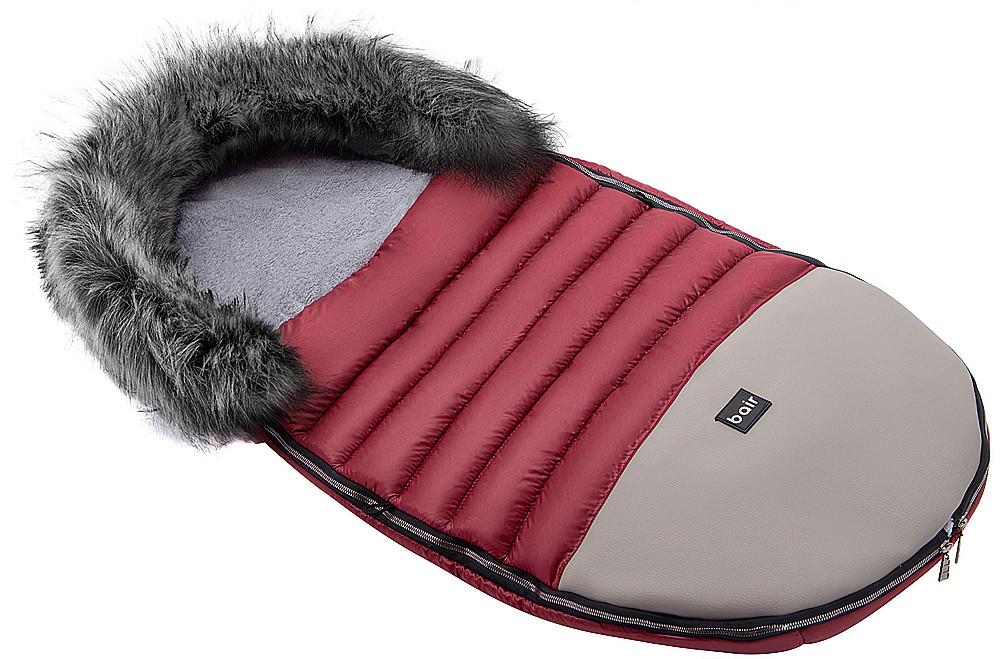 Зимовий конверт Bair Polar premium бордо - сіра шкіра